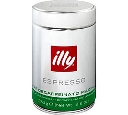 Caf� moulu    Illy d�cafein�  - 250g