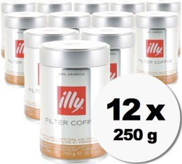 Caf� moulu Illy Filter Coffee (mouture caf� filtre) - 12x250g