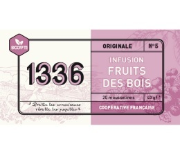 Infusion Fruits des Bois 1336 (Scop TI) x 20 Mousselines