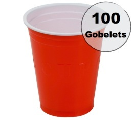 100 gobelets am�ricains rouges - 50 cl (red cups officiel)