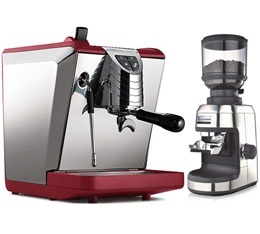 Machine expresso Oscar II Rouge Nuova Simonelli + Moulin Espressions Grinder EP0700