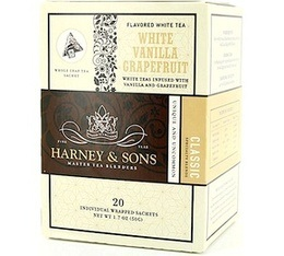 Thé Blanc sachet Vanille Pamplemousse x 20 - Harney and Sons