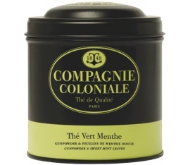 Boite Compagnie Coloniale Th� Vert Menthe - 150 gr