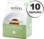 Capsules Pia Aroma x10 Novell pour Nespresso