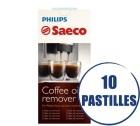 Entretien Saeco - Tablette Dégraissante CA6704/99 pour machines expresso - 10 pastilles