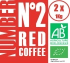 Caf� en grains Number N�2 Red Coffee 100% Arabica Bio - (2x1Kg)