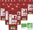 MaxiLot 12 Caf� en grains Number N�2 Red Coffee 100% Arabica Bio - (12x1Kg)