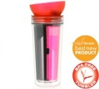 Tumbler Traveler Zita avec filtre � th� Rose 30cl - Finum