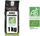 Caf� en grains Bio Equitable Arabicas d'Exception 100% Arabica x 1 kg