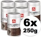 Caf� en grains Illy Monoarabica Brazil - 6x250 gr