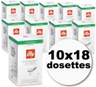 Dosette caf� illy espresso 'sur emball�es' d�caf�in� 10x18