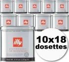 Dosettes caf� illy espresso Scura 10x18 dosettes ESE