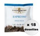Dosettes ESE Espresso Decaffeinato Miscela d'Oro x18