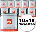 Dosettes caf� Illy espresso normal 10x18 dosettes ESE