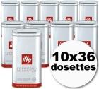 Dosettes caf� Illy espresso normal 10x36 dosettes ESE