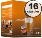 Capsules compatibles Dolce Gusto� Oquendo Mepiachi Cappuccino x 16 (2x8)
