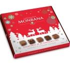 Assortiment de 25 chocolats fins fourrés au praliné - Monbana