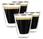 4 Verres Double Paroi Caffeino 8.5 cl