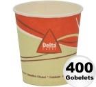 400 gobelets en carton d\'une contenance de 12cl - Delta