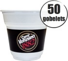 50 Gobelets plastiques 15 cl Caff� Vergnano