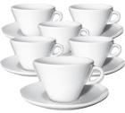 6 tasses Latte Art et sous-tasses 26 cl Favorita - Ancap
