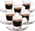 Lot de 6 Tasses et sous-tasses en verre Caffè Vergnano