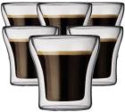 6 verres double paroi BODUM ASSAM 10cl