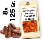 Caf� grain aromatis� Caramel et Noix - 8x 125g