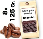 Caf� grain aromatis� Chocolat - 8x 125g