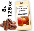 Café grain aromatisé Mirabelle - 8x 125g