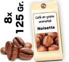 Caf� grain aromatis� Noisette d'Hawa� - 8x 125g