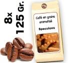Café grain aromatisé Speculoos - 8x 125g