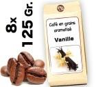 Caf� grain aromatis� Vanille - 8x 125g