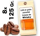 Caf� grain aromatis� Cr�me de Whisky - 8x 125g
