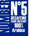 Café en grains Décaféiné Number 5 - 1kg