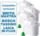 4 cartouches filtrantes Filter Logic FL402H compatible Brita Maxtra