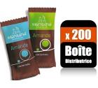 200 Monbana Amandes cacaotées nature  (Boîte distributrice) - Monbana