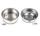 Lot 2 filtres simples 57 mm 1 tasse et 2 tasses pour machine expresso Ascaso