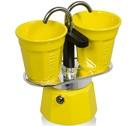 Cafetière italienne Bialetti Mini express 2 tasses + 2 bicchierini jaune