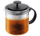 Théière à piston BISTRO NOUVEAU Noire avec filtre en acrylique - 1.5L - Bodum