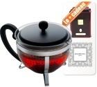 Théière Bodum Chambord Earl Grey - 1L + boite de thé collection Dammann offerte