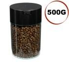 Boite conservatrice avec vide d'air Tightvac - 500gr/1.85L noire et transparente