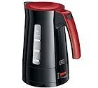 Bouilloire électrique Melitta Enjoy Aqua noire et rouge - 1.7L