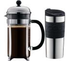 Cafeti�re � piston Bodum Chambord 1 L + Travel mug 35 cl