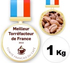 Caf� champion de France Torr�facteur 2010 - 1 Kg Grains - J�r�me Michel
