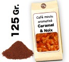 Café moulu aromatisé   Caramel  et Noix - 125g