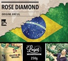 Caf� moulu pour cafeti�re filtre : Br�sil - Rose Diamond - 250g - Caf�s Lugat