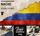 Café moulu pour cafetière italienne : Colombie - Macao - 250g - Cafés Lugat