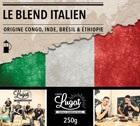 Caf� moulu pour cafeti�re � piston : Le Blend Italien (M�lange Italien) - 250g - Caf�s Lugat