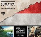 Café en grains : Indonésie - Sumatra - 1Kg - Cafés Lugat